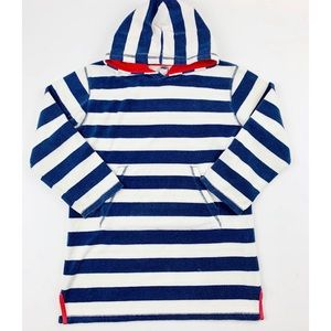 Mini Boden 9-10Y Hooded Terry Cloth Swim Cover Up